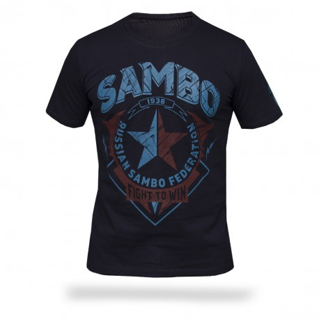 Футболка Самбо - Fight to win S3 DBL