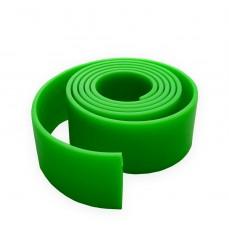 Лента резиновая цельнолитая 50x2,5 мм зеленая